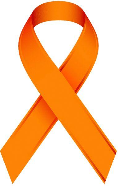 Orange Awareness Ribbon Clip Art.