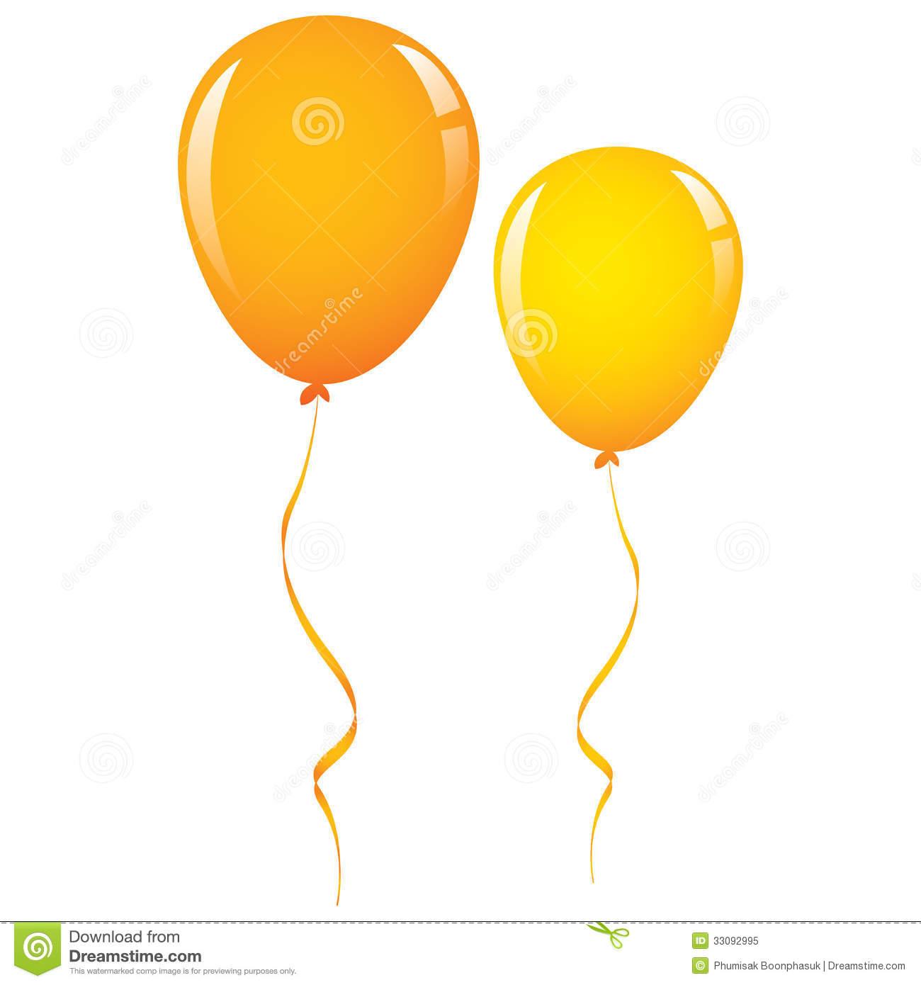 Orange Balloon People Clipart.
