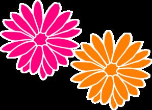 Orange And Pink Flowers Clip Art at Clker.com.