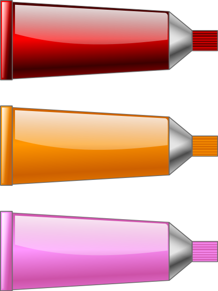 Color tube Red Orange Pink Clipart, vector clip art online.