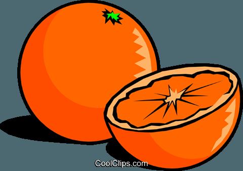Sliced Oranges Royalty Free Vector Clip Art illustration.