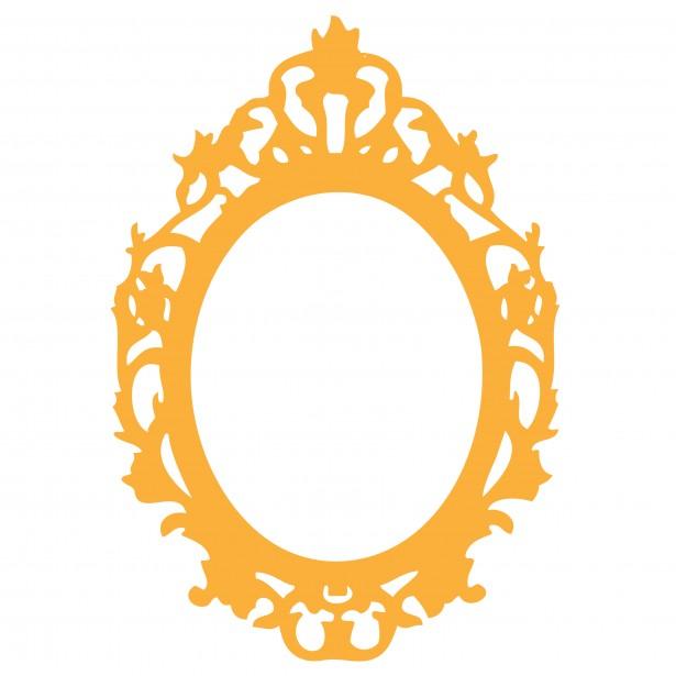 Yellow Princess Frame Clipart.