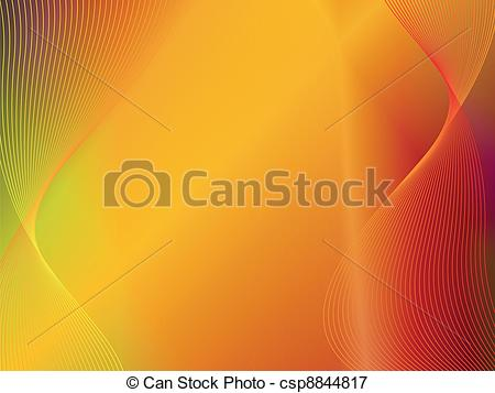 Vectors Illustration of yellow orange gold abstract background.
