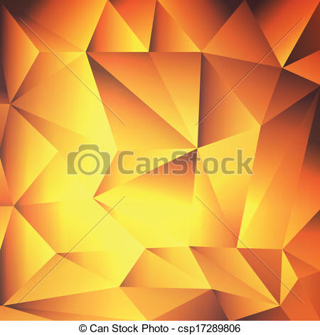 Vector Clipart of Orange, yellow, red abstract background crystal.