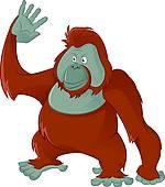 Orangutan Clip Art Illustrations. 450 orangutan clipart EPS vector.