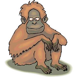 Orangutan clipart, cliparts of Orangutan free download (wmf, eps.