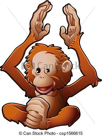 Orangutan Clipart Vector Graphics. 473 Orangutan EPS clip art.