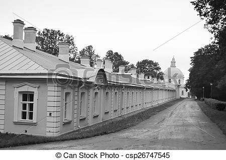 Stock Photo of Outbuilding of Big Menshikovsky palace in.