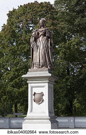 "Stock Photo of ""Statue of Louise Henriette of Orange, Electress of."