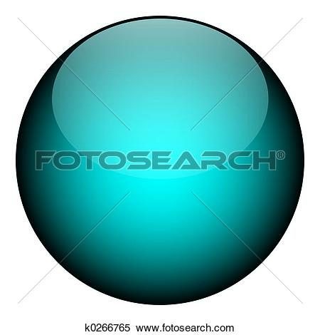 Stock Illustration of Blue Orb k0266765.