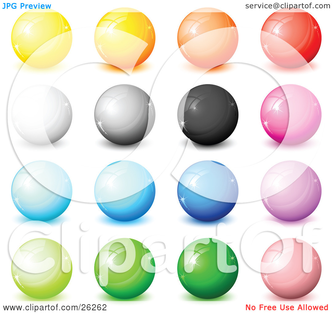 Clipart Illustration of a Collection Of Yellow, Orange, Red, White.