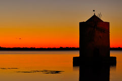 Orbetello Harbor And Town Stock Images.