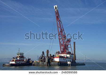 Dredging Boat Stock Photos, Royalty.