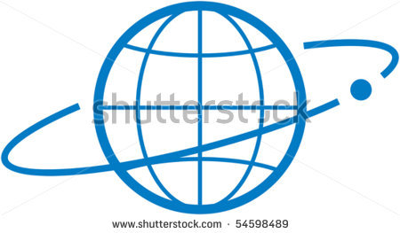 Satellite in Orbit Clip Art.