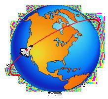 Satellite in Orbit Clip Art.