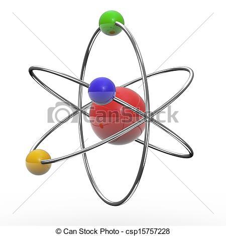 Clip Art of 3d orbital atom.