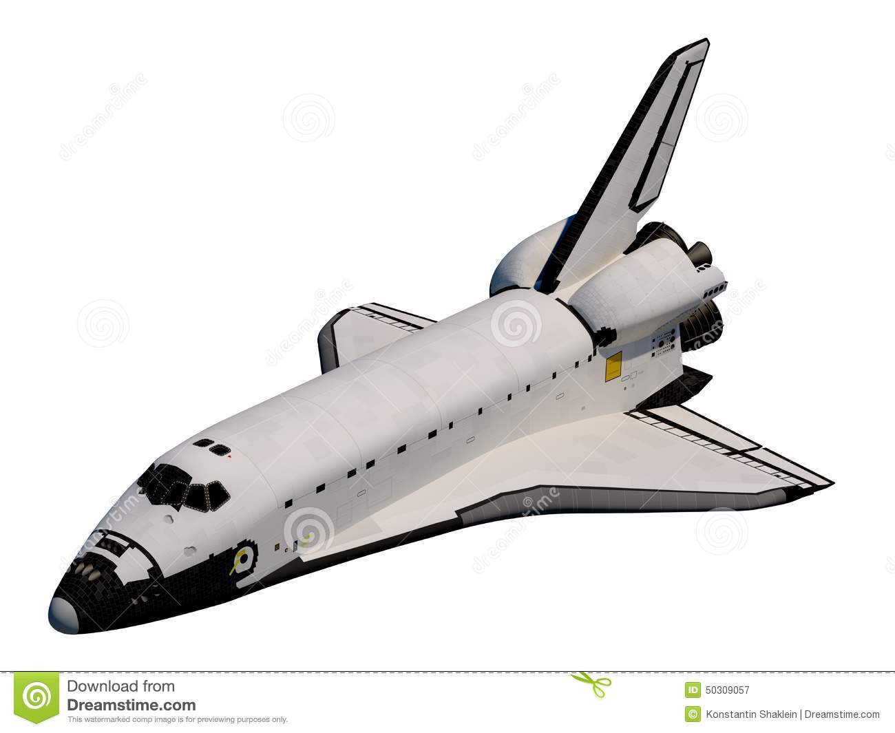 Space Shuttle. Orbiter Stock Illustration.