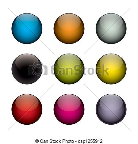 colorful orbs clip art.