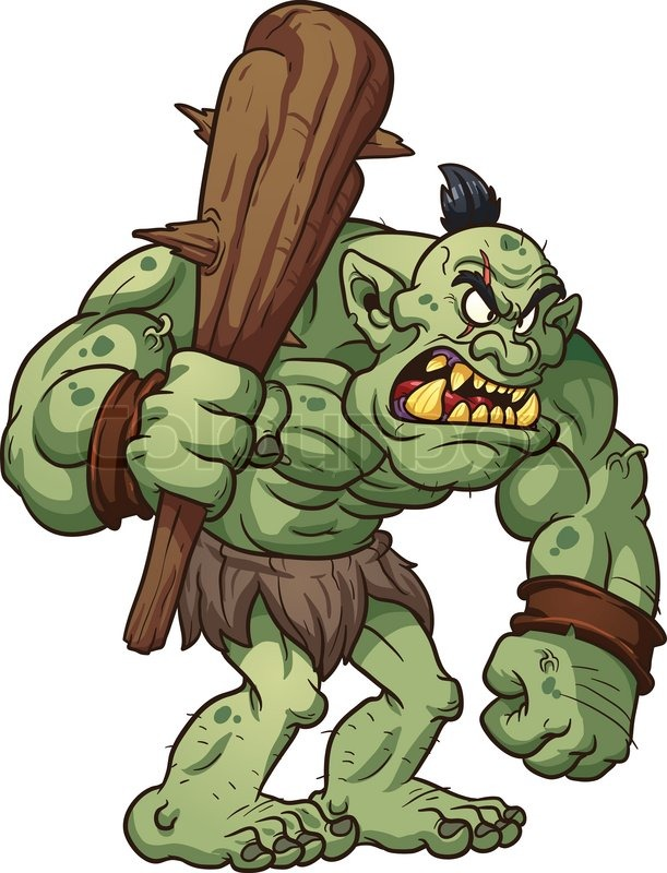 Scary Troll Clipart #1.