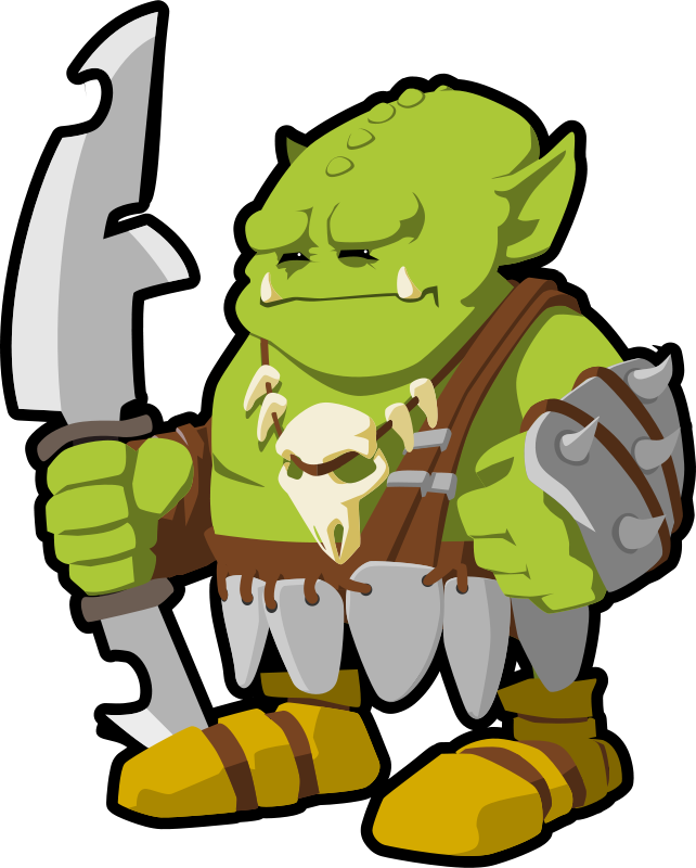 Free Clipart: Orc warrior.