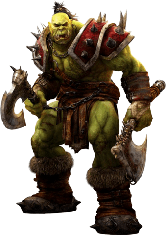 World Of Warcraft Orc transparent PNG.