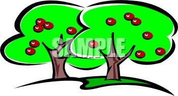 "an orchard"" clip art image."