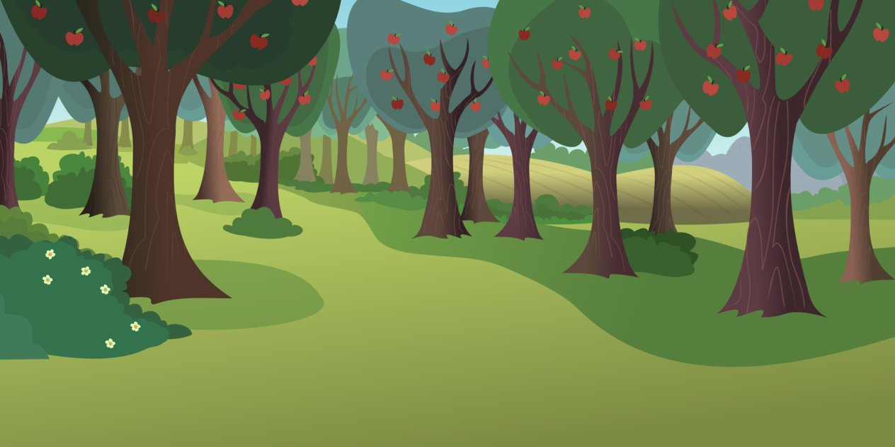 Apple orchard background clipart.