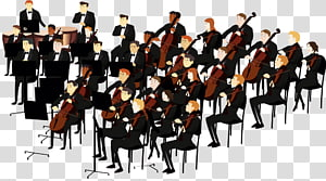 Orchestre Symphonique transparent background PNG cliparts.