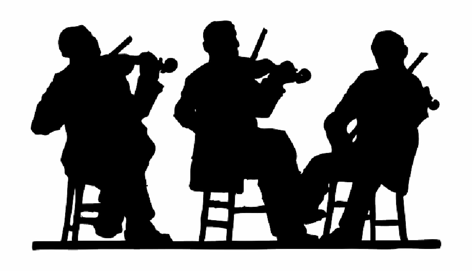 People Playing Music Silhouette , Png Download.