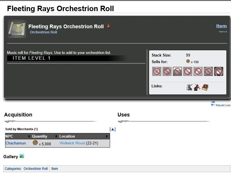 Fleeting Rays Orchestrion Roll.