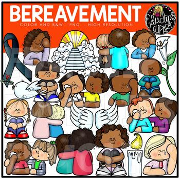 Bereavement Clip Art Set {Educlips Clipart}.