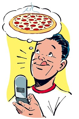 Do you order your pizza online or by phone?.
