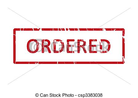 Stock Illustration of Ordered rubber stamp.
