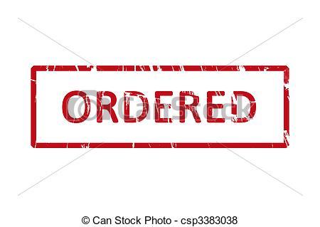 Stock Illustration of Ordered rubber stamp.