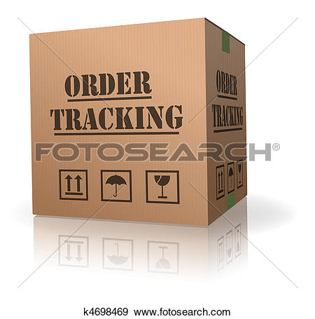 Stock Illustration of cardboard box order tracking k4698469.