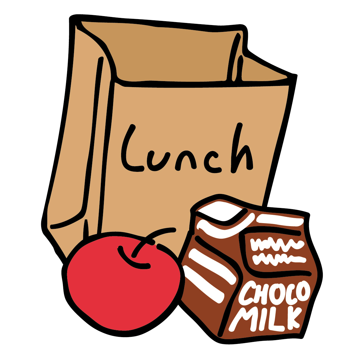 Lunch orders clipart.