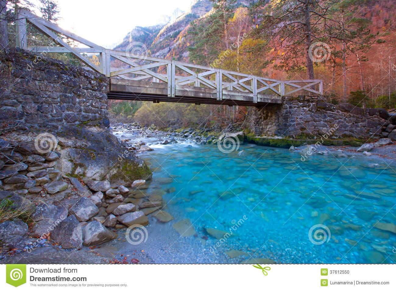 Arazas River Valle De Ordesa Valley Pyrenees Huesca Spain Stock.