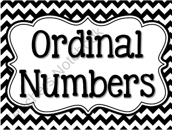 Ordinal numbers clipart black and white.