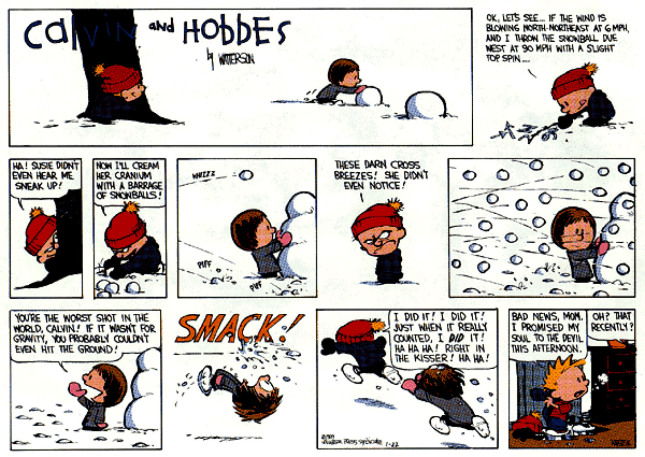 Who is the strongest Character that Calvin and Hobbes could beat.