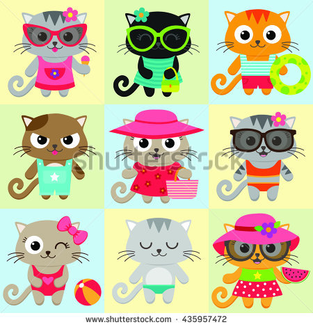 Cat Beach Stock Vectors, Images & Vector Art.