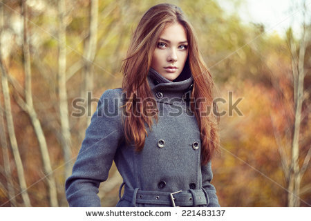 Woman Coat Stock Images, Royalty.