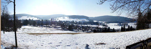 Panorama Of The Ore Mountains (Saxony / Germany) Stock Photo.