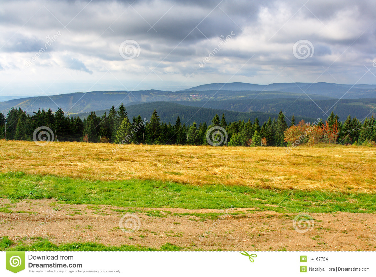 Ore Mountains, Czech Republic Stock Images.