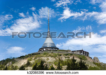 Stock Images of Jested mount and broadcaster near Liberec, Ore.