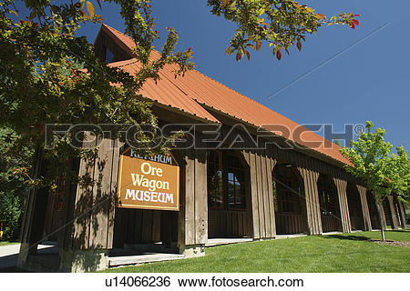 Stock Images of Ketchum, Sun Valley, ID, Idaho, Ore Wagon Museum.