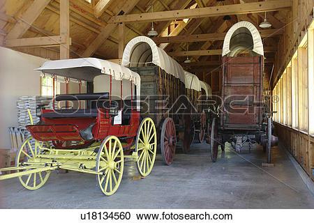 Stock Photography of Ketchum, Sun Valley, ID, Idaho, Ore Wagon.