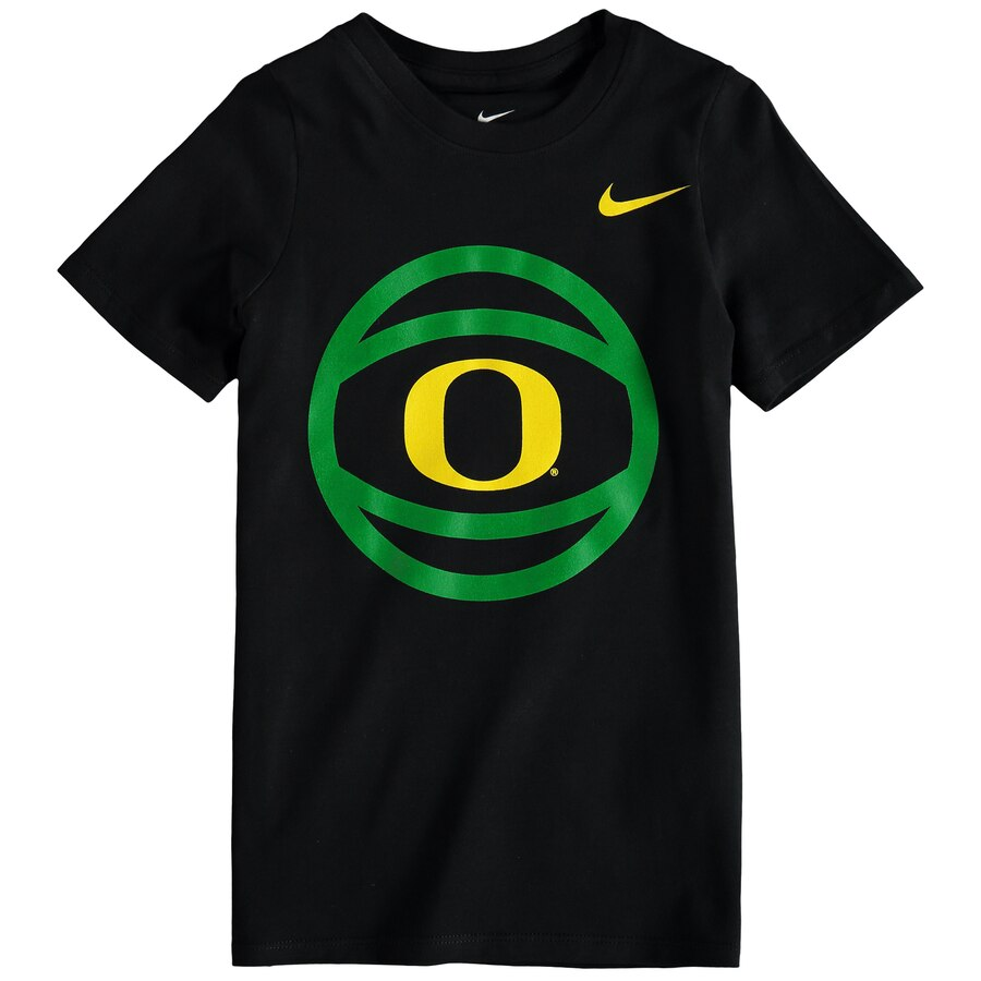 Nike Oregon Ducks Preschool Black Basketball and Logo T.