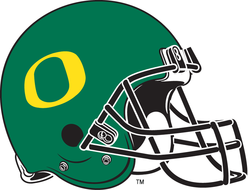 Oregon Duck Helmet Clipart.