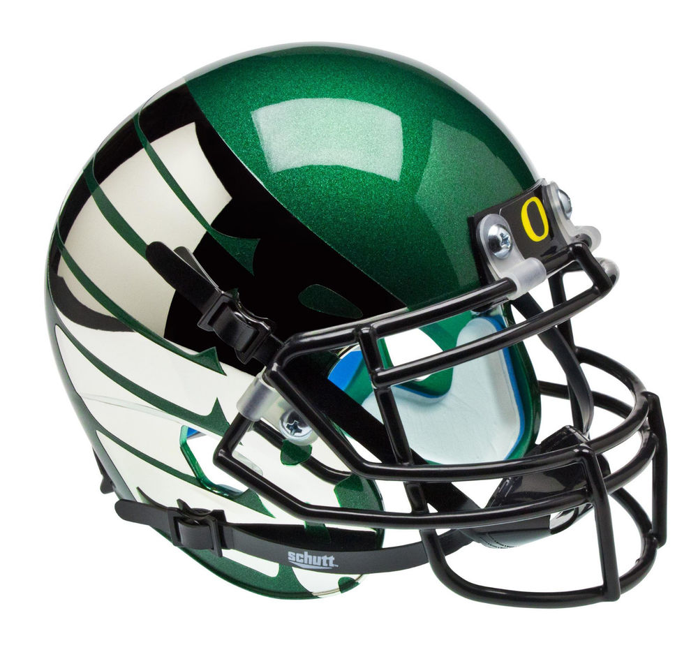 OREGON DUCKS ALTERNATE GREEN with CHROME WINGS SCHUTT MINI.