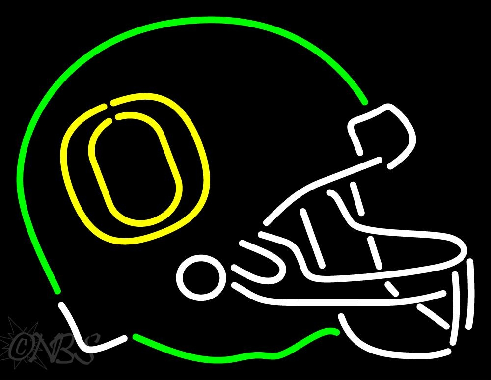 Oregon Ducks Helmet 1999 Pres Logo NCAA Neon Sign.